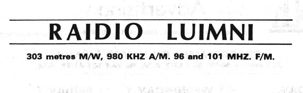 Full recording: Raidió Luimní (Limerick)