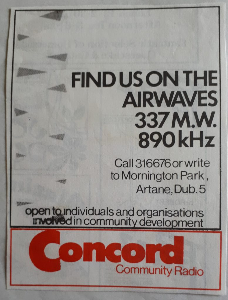 Full recording: Concord Community Radio 27/03/1983