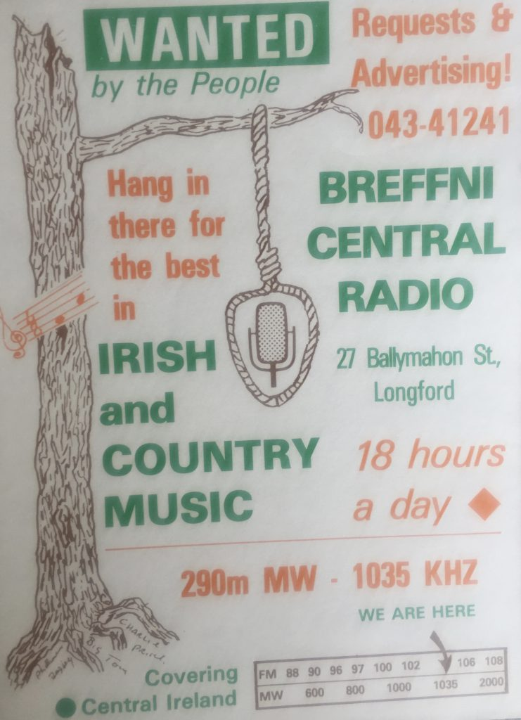 Bandscan: From 1017 to 1035 kHz including Breffni Central Radio