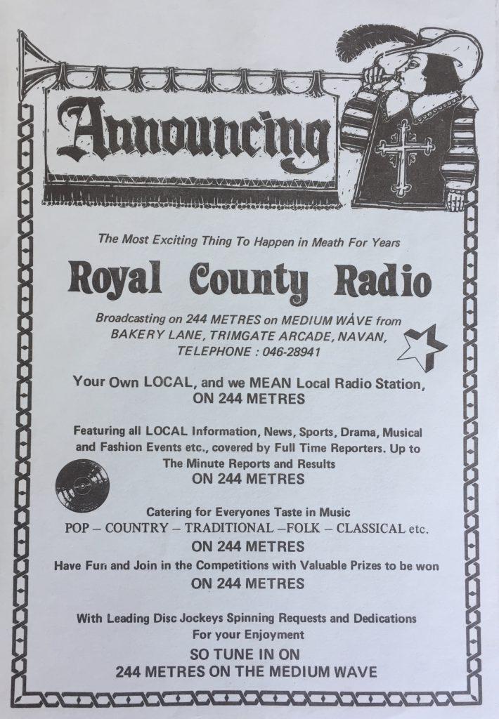Aircheck: Royal County Radio (Navan)