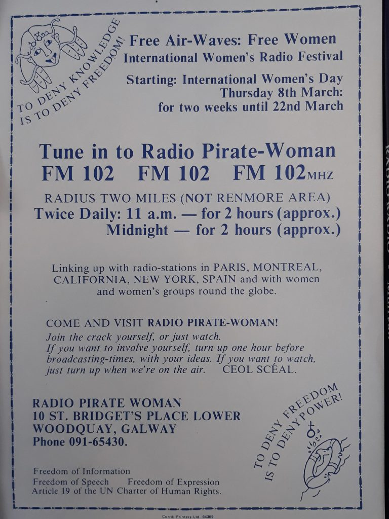 Interview: Maureen Maguire (Radio Pirate Woman, Radio Sinn Féin)