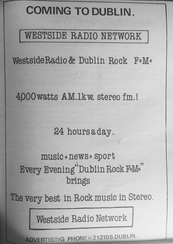Full recording: Westside Radio (Dublin)
