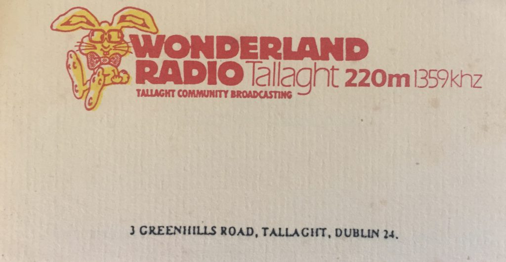 Full recording: Wonderland Radio (Dublin)