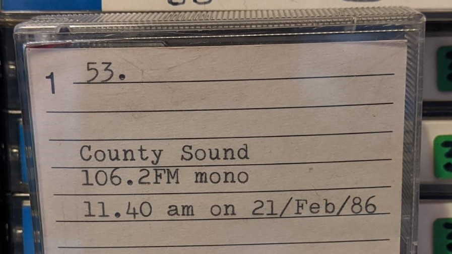 Full recording: County Sound (Dublin)