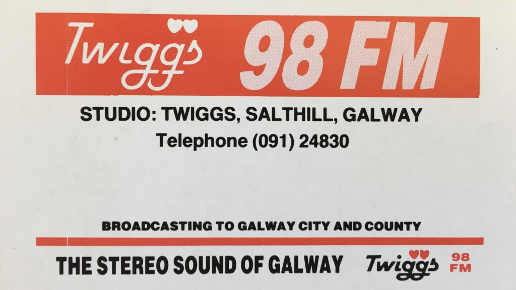 Aircheck: Twiggs FM (Galway)