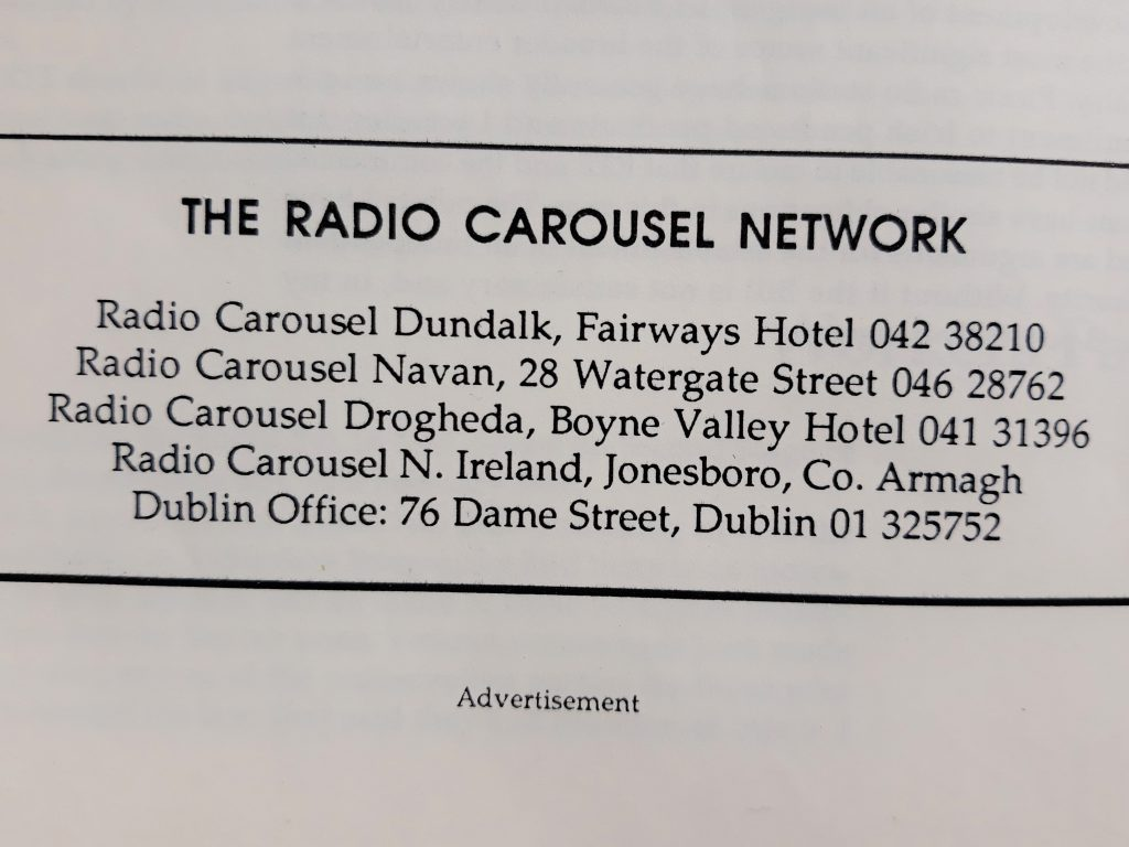 Full recording: Radio Carousel Northern Ireland