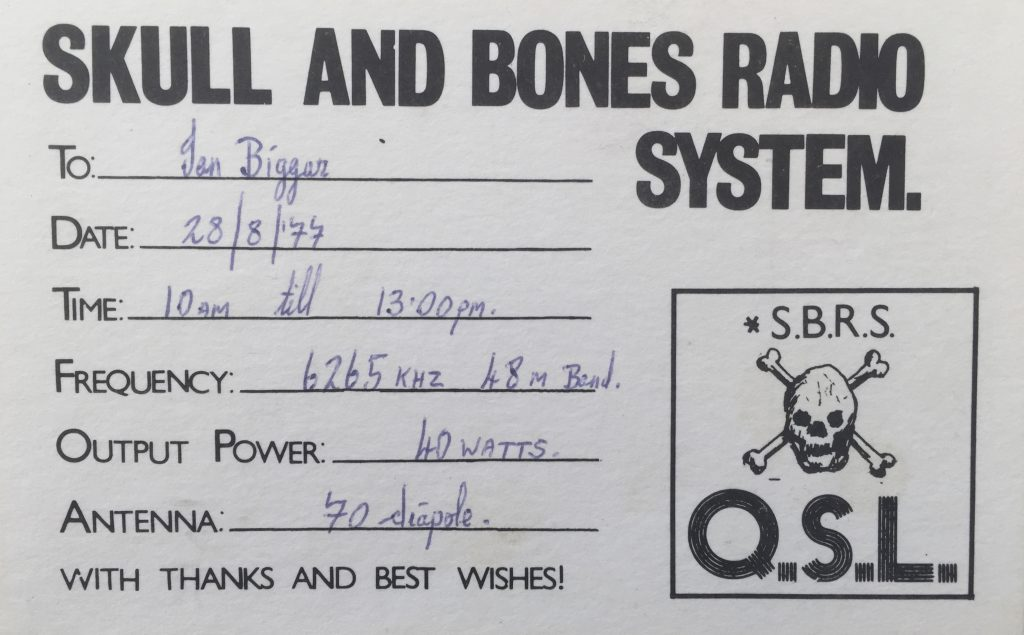 Full recording: Skull and Bones Radio System