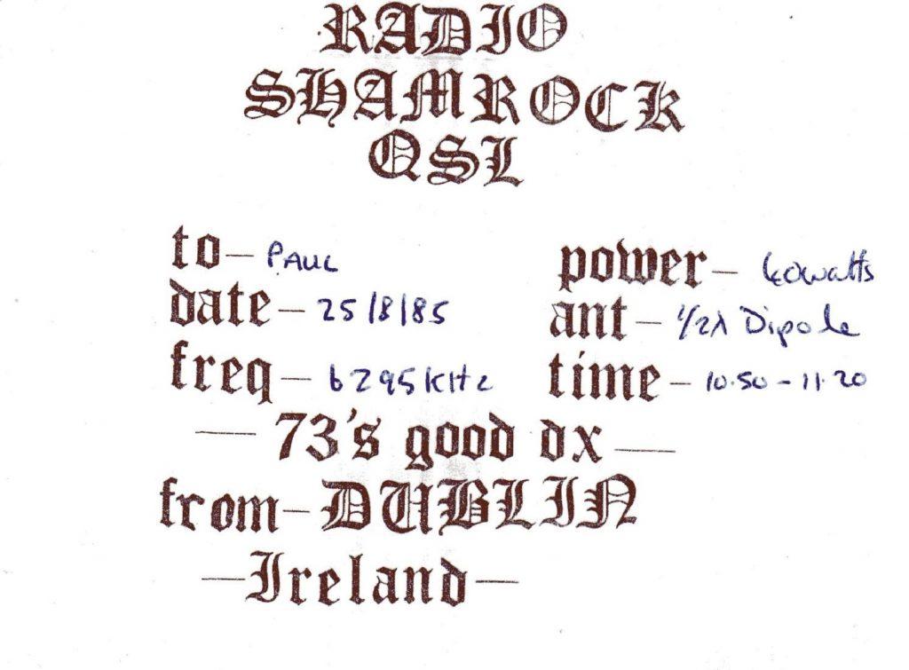 Full recording: Shamrock Radio International