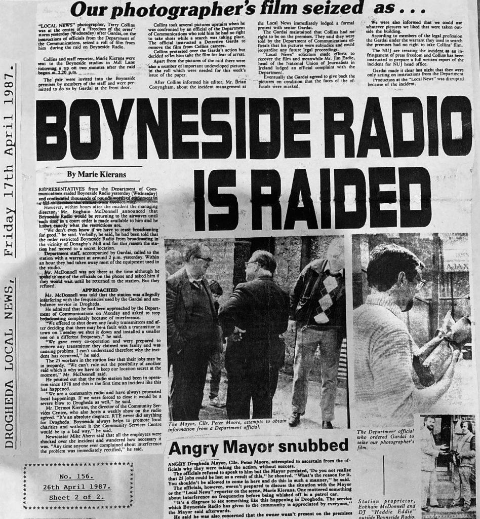 Northeast series: Boyneside Radio raid (1987)