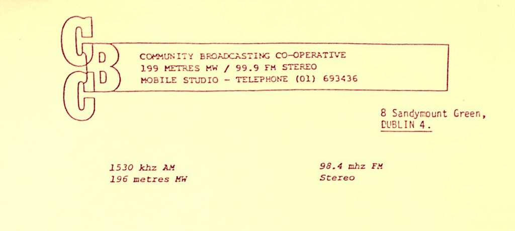 Pop-up radio: Community Broadcasting Co-operative