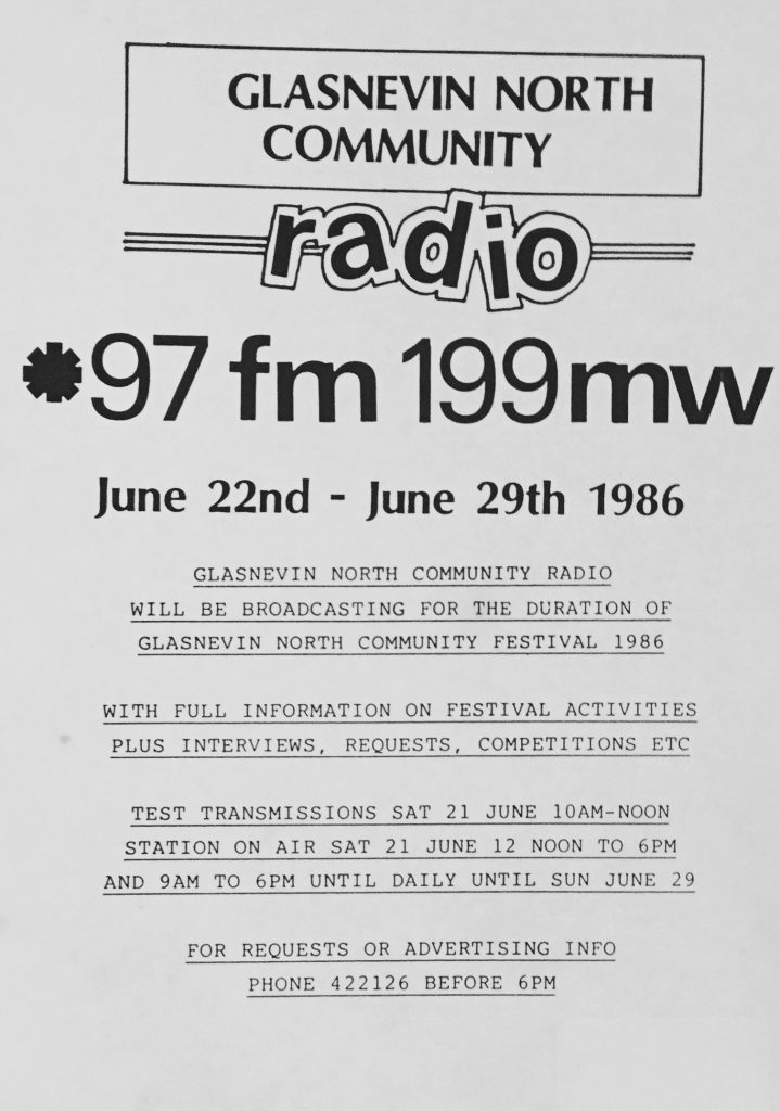 Pop-up radio: Glasnevin North Community Radio