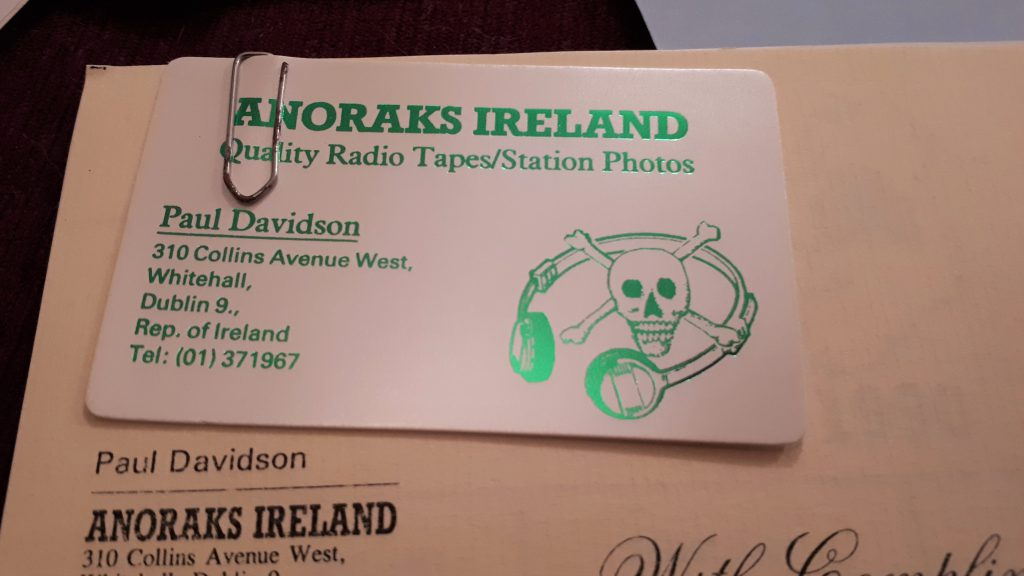 Interview with Paul Davidson of Anoraks Ireland on Centre Radio