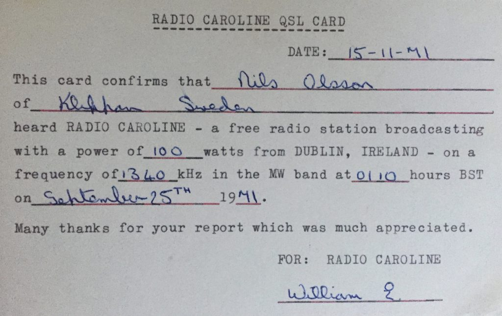 Pirate pioneers: Radio Caroline Dublin from 1970