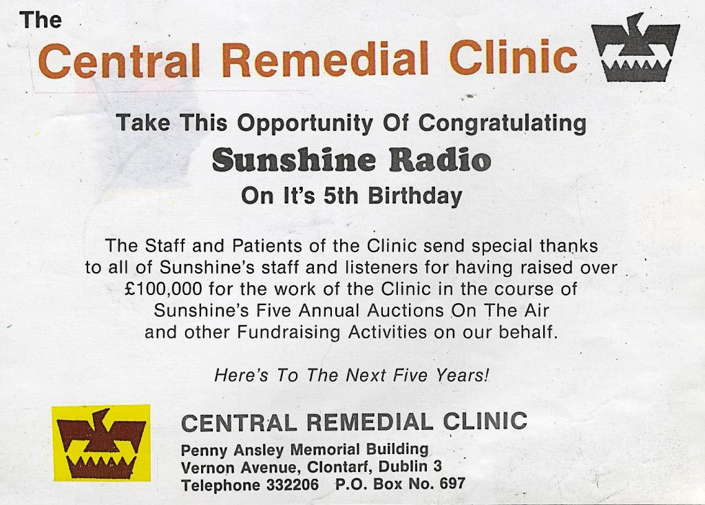 Sunshine Radio charity auction