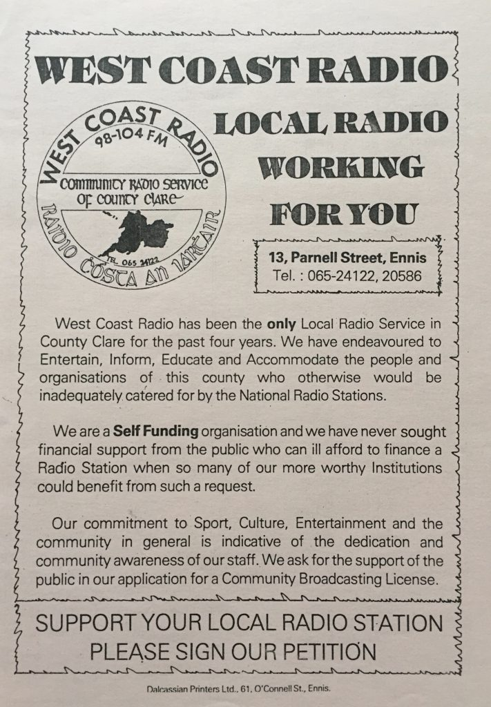 West Coast Radio from Co. Clare