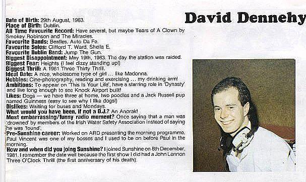 David Dennehy on Sunshine Radio